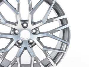 """ES#3015509 - 4S0601025S - 20"""" Split-Spoke Wheel - Priced Each - 20""""x8.5, ET42, 5x112, Titanium-look / Burnished aluminum finish - Genuine Volkswagen Audi - Audi"""