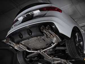 Audi B8/8.5 S4 Valved Cat-Back Exhaust - Resonated With 4 inch Chrome Swivel Tips
