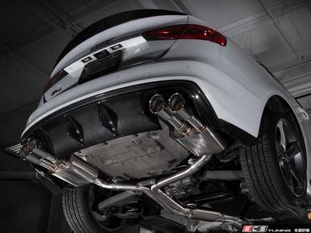 ES#3619908 - 008553ecs01KT - Audi B8/8.5 S4 Valved Cat-Back Exhaust - Resonated With Chrome Swivel Tips - ECS evolutionary design and manufacturing, blending with raw emotion, desire and passion, creating a truly unique driving experience - ECS - Audi