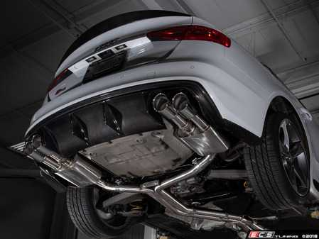 ES#3619909 - 008553ecs02KT - Audi B8/8.5 S4 Valved Cat-Back Exhaust - Non Resonated With Chrome Swivel Tips - ECS evolutionary design and manufacturing, blending with raw emotion, desire and passion, creating a truly unique driving experience - ECS - Audi