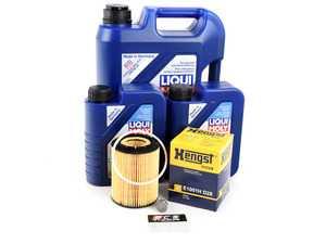 ES#2785029 - VR612VOILKT3 - Oil Service Kit - Includes Hengst oil filter and Liqui Moly 5w-40 oil - Assembled By ECS - Audi Volkswagen Porsche