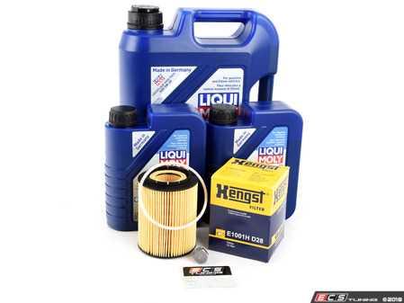 ES#3639953 - 95510756100KT3 - 2004-2011 V6 Cayenne Oil Change Kit - Featuring LiquiMoly 5w40 Leichtlauf High Tech and Hengst Filter - Assembled By ECS - Porsche