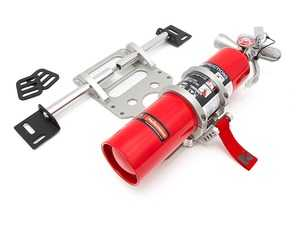 ES#3646705 - FE09H3RSMX250R - Rennline Fire Extinguisher And Universal Mount Package - Dry Chem - Silver mount with Red HalGuard Dry Chem fire extinguisher - Rennline - Audi BMW Volkswagen Mercedes Benz MINI Porsche