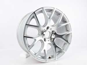 """ES#3646682 - 040-14sd14 - 18"""" Style 040 (18x9, ET38, 5x120, 72.6CB) Hyper Silver With Machined Face - *Scratch And Dent* - Alzor - BMW"""