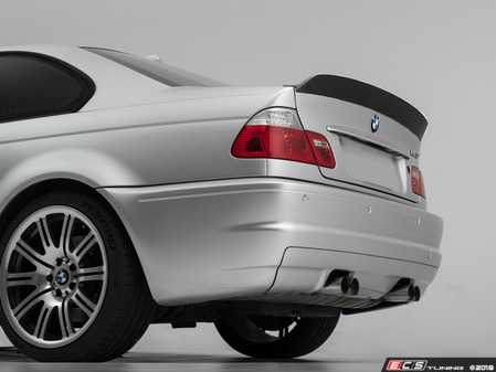 ES#3603722 - 024707TMS01 - Turner Motorsport Carbon Fiber High Kick Rear Spoiler - E46 Coupe - A beautiful high kick carbon spoiler that pays homage to CSL while flowing perfectly with E46 coupe body lines! - Turner Motorsport - BMW