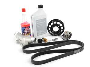 ES#2739351 - E36FNDuKT -  ultimate Fan Delete Kit  - Free up some extra horsepower by deleting your fan - with upgraded aluminum thermostat housing, fan delete nut and ECS Aluminum Water Pump Pulley - Assembled By ECS - BMW