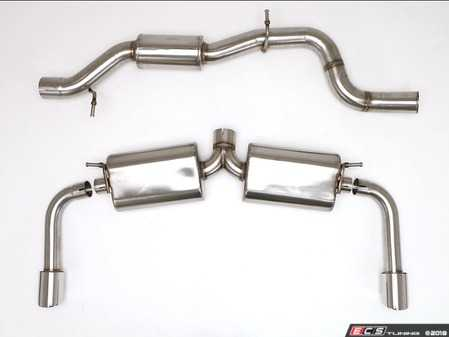 "ES#3218651 - FPIM-0460 - Performance Cat-Back Exhaust System - 3.5"" Twin round tips - Billy Boat Performance - Audi"