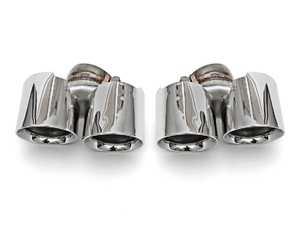 ES#3627146 - FSPOR9972TQDTP - Deluxe Quad Style Tips - Polished Chrome - 65mm ID - Fits OEM Muffler - Fabspeed - Porsche
