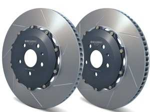 ES#3647207 - GIR-A1-152 - Girodisc 2-Piece Floating Front Rotors (Slotted) - Pair - Upgrade your brakes with lightweight, high-performance OE-sized replacement discs - The factory brake bias is maintained along with ABS efficiency. - Girodisc - Audi