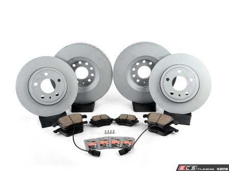 ES#3184281 - 8E0615301ADK5KT - Front & Rear Premuim Brake Service Kit - Featuring Zimmermann rotors and Akebono Euro Ceramic pads - Assembled By ECS - Audi
