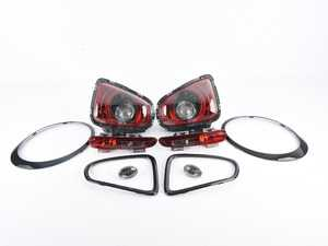 """ES#3639658 - 63212296298KT - Retrofit Kit For MINI Cooper Black Line Lights With Headlight Rings - Upgrade your MINI to the """"blackline"""" taillight, taillight trim, headlight trims, and side turn signal set. MINI Cooper Blackline Light """"tinted"""" R56 R57 R58 R59 2011+ - Genuine MINI - MINI"""