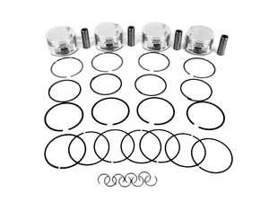 ES#3612517 - 284779 - JE Performance Forged Piston Set  - Includes rings, wrist pins, and pin locks - 82.5mm bore (stock), 10.38:1 CR, 92.8mm stroke (stock) - JE Piston - Audi Volkswagen