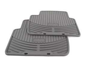 ES#196738 - 82550138290 - Rear All Weather Rubber Floor Mat Set - Gray - Protect your carpet from dirt and moisture! - Genuine BMW - BMW