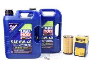 ES#3647401 - 0001803009KT1 - 2007-2014 V8 6.3L AMG Oil Change Kit - Featuring LiquiMoly Approved 229.5 Spec (0w-40) Synthoil Energy Engine Oil & a Hengst Filter - Assembled By ECS - Mercedes Benz