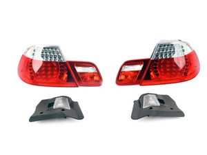 ES#3603898 - 61120153650KT3 - Clear Face Lift Tail Let Set  - Includes inner and outer tail lights and a wiring harness adapter for ease of install - Genuine BMW - BMW