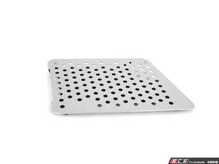 ES#2840019 - F16PSILVER - Perforated Aluminum Floor Board - Silver - Right side fitment - Rennline - Porsche
