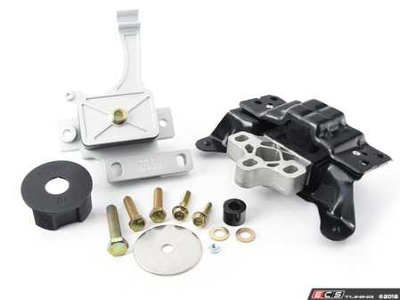 ES#3246179 - MQBSTG1KIT-6V2  - BFI Stage 1 Engine Mount Kit - Version 2 Torque Arm (Post 9/15 Cars ) - Billet engine mount with 70A durometer transmission and dogbone inserts - Black Forest Industries - Volkswagen
