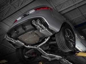 """ES#3647490 - 008553ecs01KT2 - Audi B8/8.5 S5 Valved Cat-Back Exhaust - Resonated With 4"""" Chrome Swivel Tips - ECS evolutionary design and manufacturing, blending with raw emotion, desire and passion, creating a truly unique driving experience - ECS - Audi"""