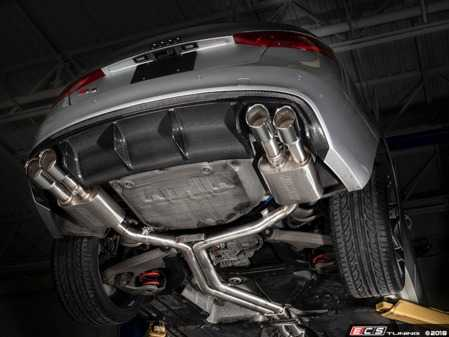 """ES#3647491 - 008553ecs02KT2 - Audi B8/8.5 S5 Valved Cat-Back Exhaust - Non Resonated With 4"""" Chrome Swivel Tips - ECS evolutionary design and manufacturing, blending with raw emotion, desire and passion, creating a truly unique driving experience - ECS - Audi"""