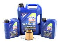 ES#3424307 - N54OCIlmKT3 - Liqui Moly Voll-Synthese Energy Oil Change Kit / Inspection I - Includes seven quarts of Liqui Moly Voll-Synthese Energy 0w-40 Synthetic Engine Oil, Hengst oil filter and new drain plug - Assembled By ECS - BMW