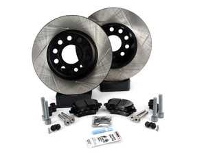 ES#3536938 - 025997ECS0371KT - Performance Rear Brake Service Kit (282x12) - Includes ECS V4 slotted rotors and Hawk HPS pads. - Assembled By ECS - Volkswagen