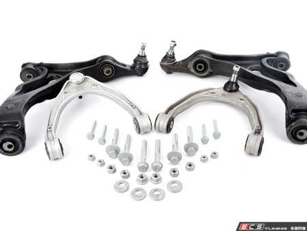 ES#3647147 - 95534101733KT - 28 Piece Front Upper & Lower Control Arm Kit With Hardware - Comprehensive Kit to get your Cayenne's front end back to new - Assembled By ECS - Porsche