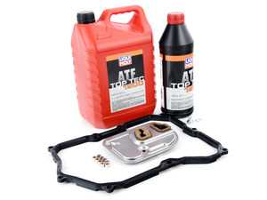 ES#3448781 - 09M325429LMKT - 6-Speed Automatic Transmission Service Kit - Without Service Tool - Save time and money with a transmission service kit from ECS. Includes Liqui Moly trans fluid, filter, and a pan gasket from OE suppliers. - Assembled By ECS - Volkswagen