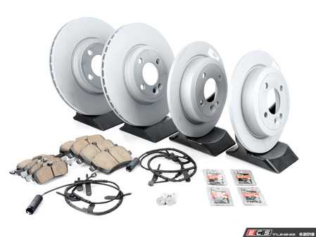 ES#2598181 - 34116774986KT12 - Front & Rear Brake Service Kit - Featuring Zimmerman rotors and Akebono pads - Assembled By ECS - MINI