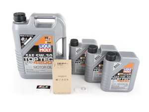ES#2953869 - 059198405KT2 - Oil Service Kit - Includes Liqui Moly oil, HENGST filter - Assembled By ECS - Audi Volkswagen