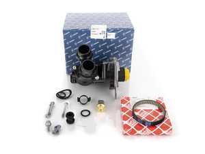ES#3183404 - 06H121026DDKT - Water Pump Kit - Includes a new water pump, belt, thermostat/housing, union piece & hardware - Assembled By ECS - Audi Volkswagen