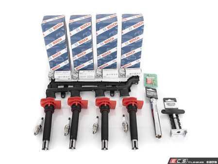 ES#3464405 - 06E905115FKKT6 - Ignition Service Kit - Black Coil Pack Wiring Cover & Service Tools - Assembled By ECS - Audi Volkswagen