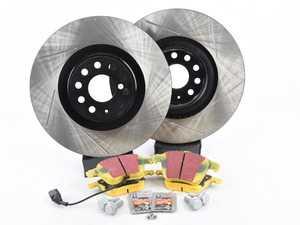 ES#3536730 - 025997ECS0243KT - Performance Front Brake Service Kit (312x25) - Featuring ECS V4 slotted rotors and Hawk HPS pads. - Assembled By ECS - Volkswagen