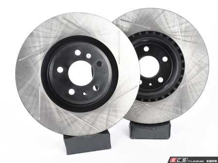 ES#3537756 - 025997ECS0625KT - Front Big Brake Kit - Stage 1 - Slotted Rotors (345x30) - Upgrade to the stopping power of the Audi S4/5. Features ECS V4 brake rotors. - Assembled By ECS - Audi
