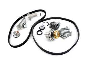 ES#3619107 - 06B198479KT9 - Timing Belt Kit - Ultimate  - Complete kit to service your timing belt, Hepu water pump, and thermostat. Featuring ECS Heavy Duty Cast Aluminum Thermostat Housing! - Assembled By ECS - Audi Volkswagen