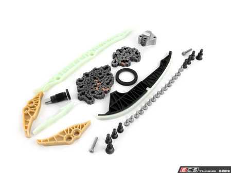 ES#3604202 - 06K109158AKT9 - Ultimate Timing Chain Kit - Includes all chains, tensioners, guide rails and securing hardware - Assembled By ECS - Audi