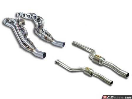 ES#3651544 - w204c63amgKT3 - 2008-2014 C63 AMG Performance Headers and High Flow Catalytic Converters - This kit will replace your factor headers and catalytic converters to improve performance and sound - Supersprint - Mercedes Benz