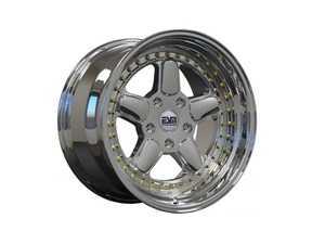 "ES#3658974 - esm-005r-5KT - 17"" Style 005R Wheels - Set Of Four - 17""x8.5"" ET20 56.1CB 4x100 Platinum VC Chrome With Gold Rivets - ESM Wheels - MINI"