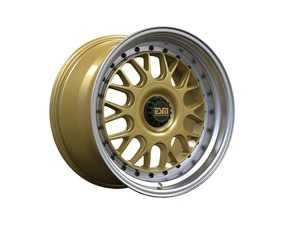 "ES#3659017 - esm-004m-2KT - 17"" Style 004M Wheels - Set Of Four - 17""x8.5"" ET20 56.1CB 4x100 Gold With Polished lip - ESM Wheels - MINI"