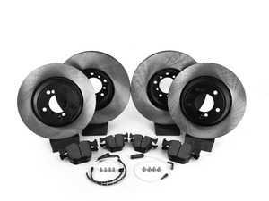 ES#3524796 - 025997ecs073KT5 - Performance Front and rear Brake Service Kit - Featuring ECS V4 blank rotors and Hawk HPS pads - Assembled By ECS - BMW