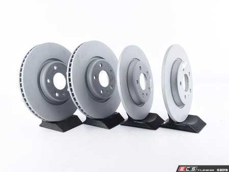 ES#3184524 - 8K0615301AKT33 - Front & Rear Premuim Brake Service Kit - Featuring Zimmermann rotors and Akebono Euro Ceramic pads - Assembled By ECS - Audi