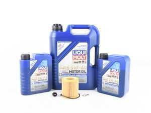ES#3659026 - 111375351063KT - Liqui Moly Oil Change Kit - Featuring Leichtlauf High-Tech engine oil, Mann filter, and an ECS magnetic drain plug - Assembled By ECS - BMW