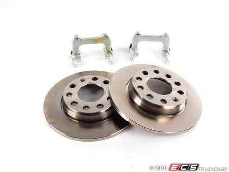 ES#6147 - 8e0698000 - Rear Big Brake Kit - Stage 1 - Plain Rotors (255x12) - Upgrade your 245x10 rear brakes to the 255x12 option - Assembled By ECS - Audi