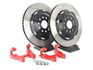 ES#3576184 - 99.10.49B/R - Floating Rear Rotor 350mm Upgrade Kit - Red Carriers - Increases rotor diameter from 310mm to 350mm without adding weight - Provides better cooling and improved braking torque - Neuspeed - Audi