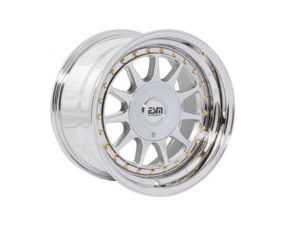 "ES#3659989 - esm-003r-7KT - 16"" Style 003R Wheels - Set Of Four - 16""x8"" ET20 56.1CB 4x100 Vacuum Plated Chrome/ Polished Lip With Gold Rivets - ESM Wheels - MINI"