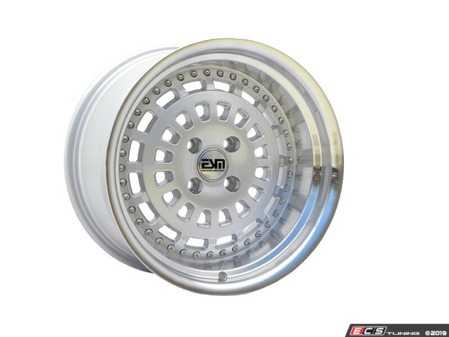"ES#3660273 - esm-015-23KT - 15"" Style 015 Wheels - Set Of Four - 15""x8"" ET20 56.1CB 4x100 Silver/Polished Lip With Silver Rivets - ESM Wheels - MINI"