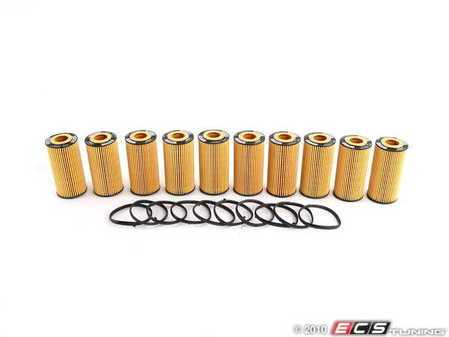 ES#252600 - 06D115562 - Oil Filter - Pack Of 10 - Stock up for future maintenance! - Hengst - Audi Volkswagen