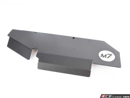 ES#3660367 - 56-330115 - Turbo Heat Shield N14/N18 Engine R55-R59 / R60-R61 - Matt Black Powder Coated * Newer Design * - The M7 Turbo Heat shield is a must have to prevent hood paint discoloration, scoop warping and underhood heat damage caused by excessive turbocharger heat - M7 Speed - MINI