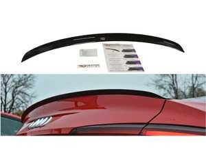 ES#3660845 - AU-A52SLINECAP1C - Rear Trunk Spoiler Cap - Carbon Look - Add aggressive looks to your Audi with this quality ABS trunk spoiler - Maxton Design - Audi