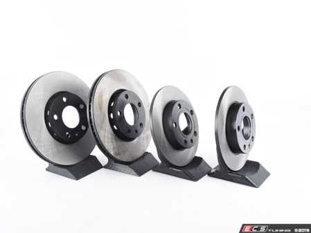 ES#3184259 - 4a0698001KT - Front & Rear Economy Brake Service Kit - Featuring OP Parts rotors and Vaico brake pads - Assembled By ECS - Audi