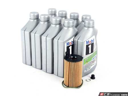 ES#3639986 - 95810722220KT1 - 2013-2016 Genuine Cayenne Diesel Oil Change Kit - Featuring Porsche C30 Spec Mobile 1 (5w-30) and Genuine Porsche Filter, drain plug, and washer - Genuine Porsche - Porsche